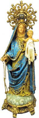 Our Lady of the Rosary Ornate Statue