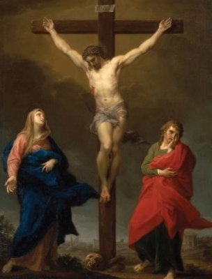 Crucifixion Mass Card for the Deceased
