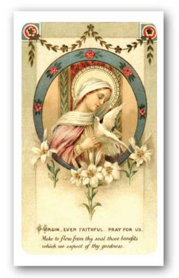Consecration to the Blessed Virgin Holy Card