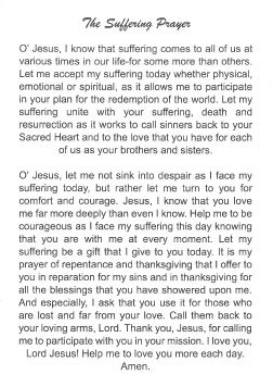 The Suffering Prayer